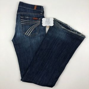 7 for all mankind dojo flare jeans 25x33